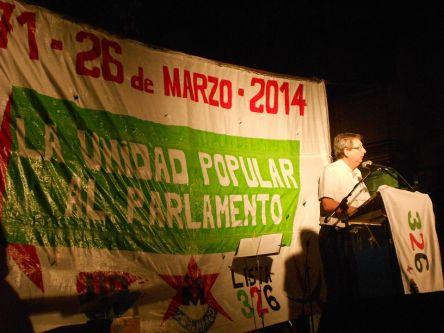 Eduardo Rubio, orador principal del acto aniversario
