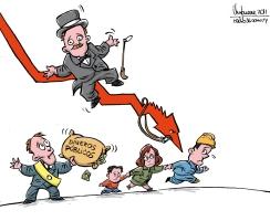"Ilustración de Gervasio Umpiérrez. ""Crisis capitalista"""