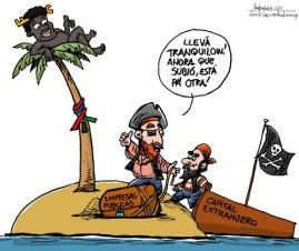 Piratas - Caricatura de Gervasio Umpiérrez
