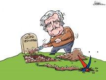 Los muertos que vos matáis... Caricatura de Gervasio Umpiérrez