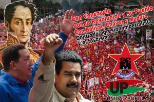 Con Venezuela y la Revolución Bolivariana
