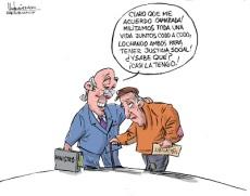 """Camaradas"", caricatura de Gervasio Umpiérrez"