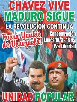 Mañana todos a la Plaza Libertad. A Venezuela se defiende y se la respeta