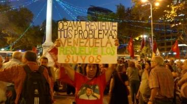 La UP salió a la calle a defender a Venezuela