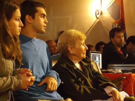 Delia Villalba y familia