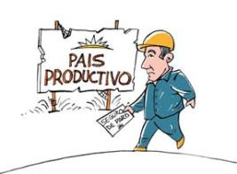 País productivo. Caricatura de Gervasio Umpiérrez