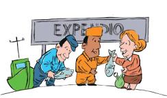 Expendio. Caricatura de Gervasio Umpiérrez