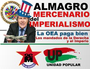 Almagro; gobierno; frente amplio; OEA; Venezuela